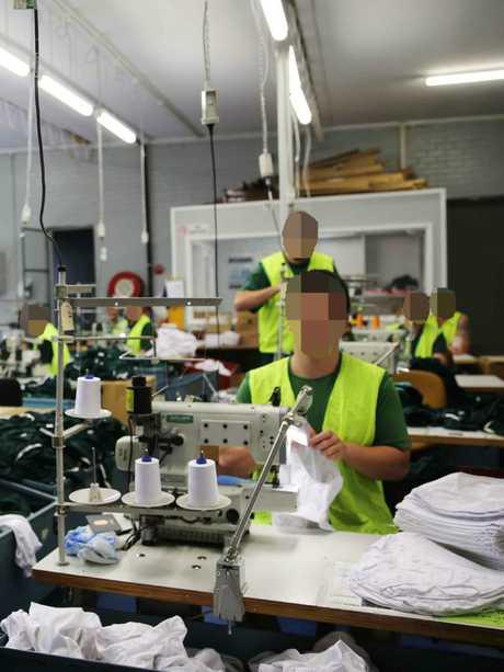 Cooma jail inmates make prison underpants.
