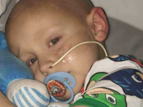 Charlie was diagnosed with hepatoblastoma, a rare tumour that begins in the liver and is usually found in children up to three years old.