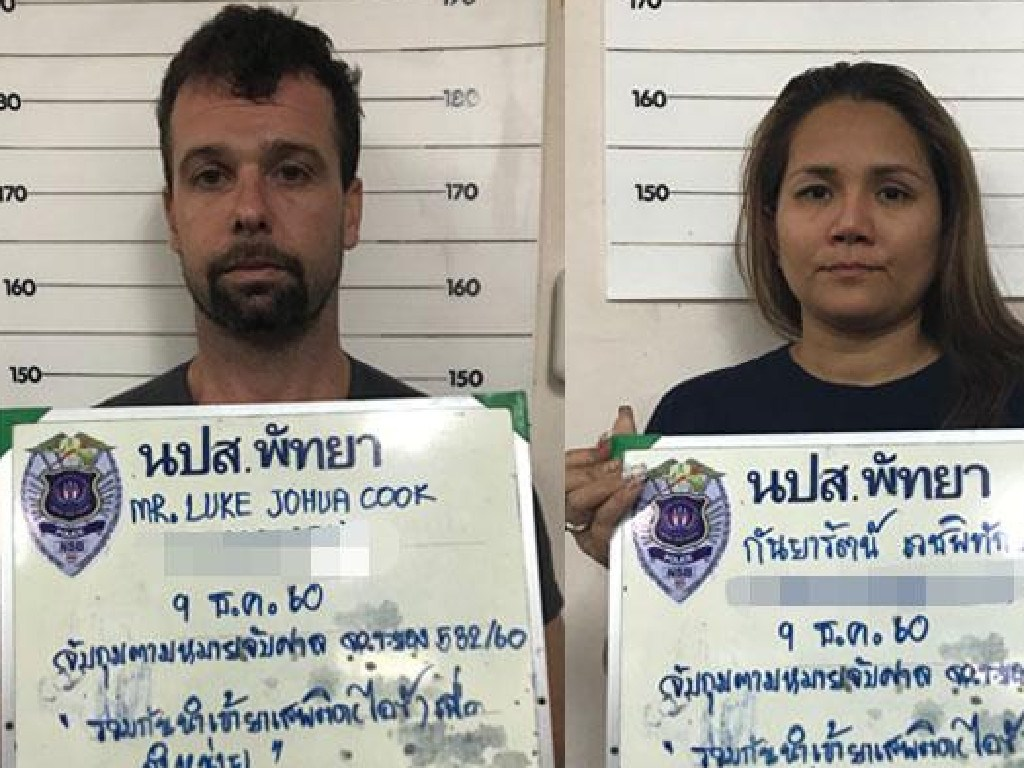 Australian Hells Angels member Luke Joshua Cook and his Thai wife Kanyarat Wechapitak have been given the death penalty.