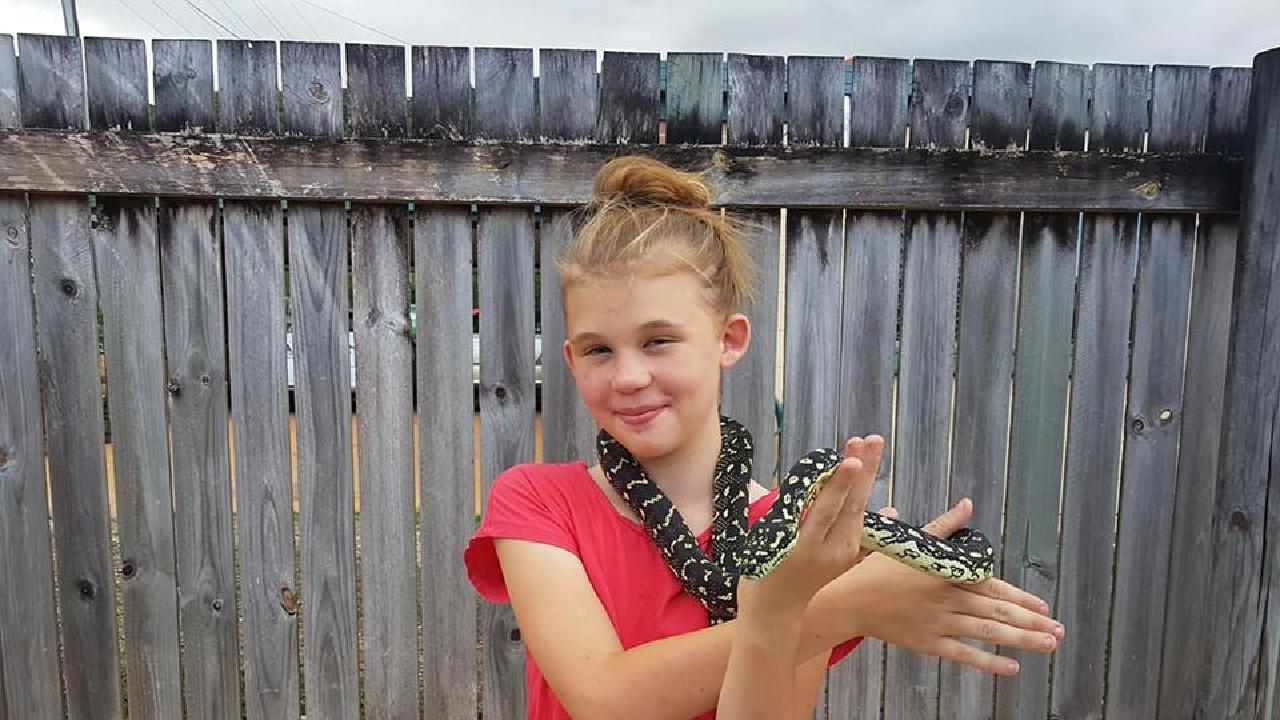Amelia Farquis's pet jungle python escaped and was recaptured down the street after a resident called a profession snake catcher.