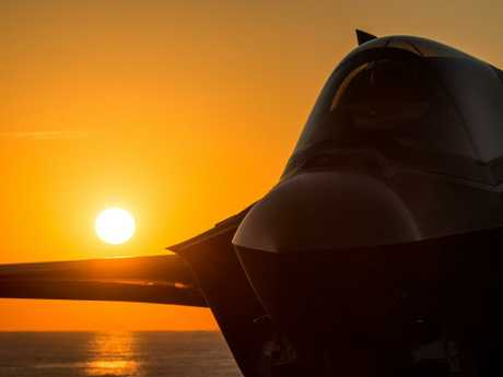 An F-35 aboard the Royal Navy aircraft carrier HMS Queen Elizabeth. Picture: US Navy