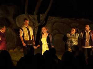 Shakespeare Under the Stars cast perform.
