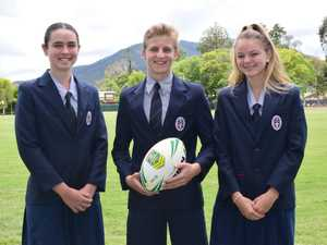 (L-R) Ella Peacock, Brayden Huggers and Laura Guley