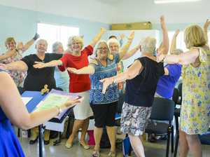 The Gladstone Musical Society Womens Choir rehearsing