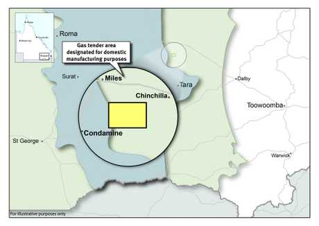 A highly prospective 22 km block south west of Chinchilla will go to tender, with any gas only available to Australian manufacturers.