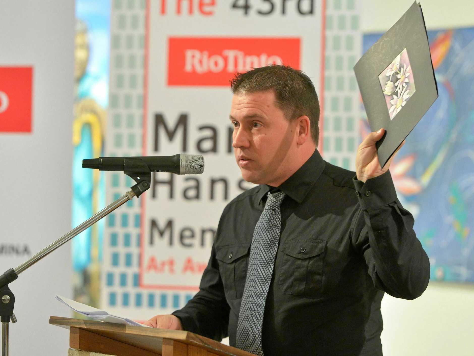 Mayor Matt Burnett.The 43rd Rio Tinto Martin Hanson Memorial Art Awards 2018.