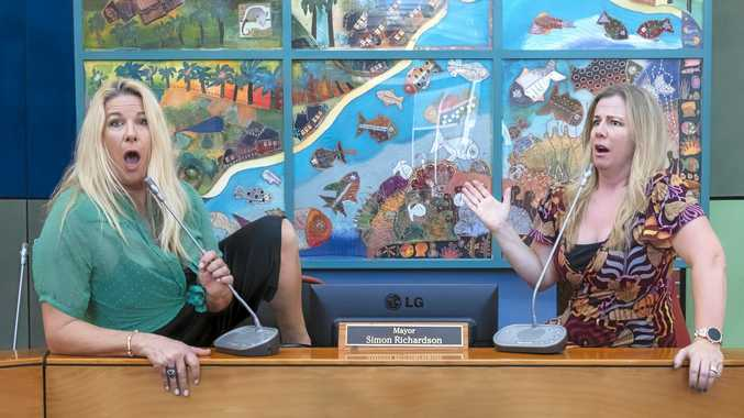 RULED OUT OF ORDER: Councillors Mandy Nolan and Ellen Briggs will take over the Byron Council Chambers for a mini comedy-fest during the Mullum Music Festival.