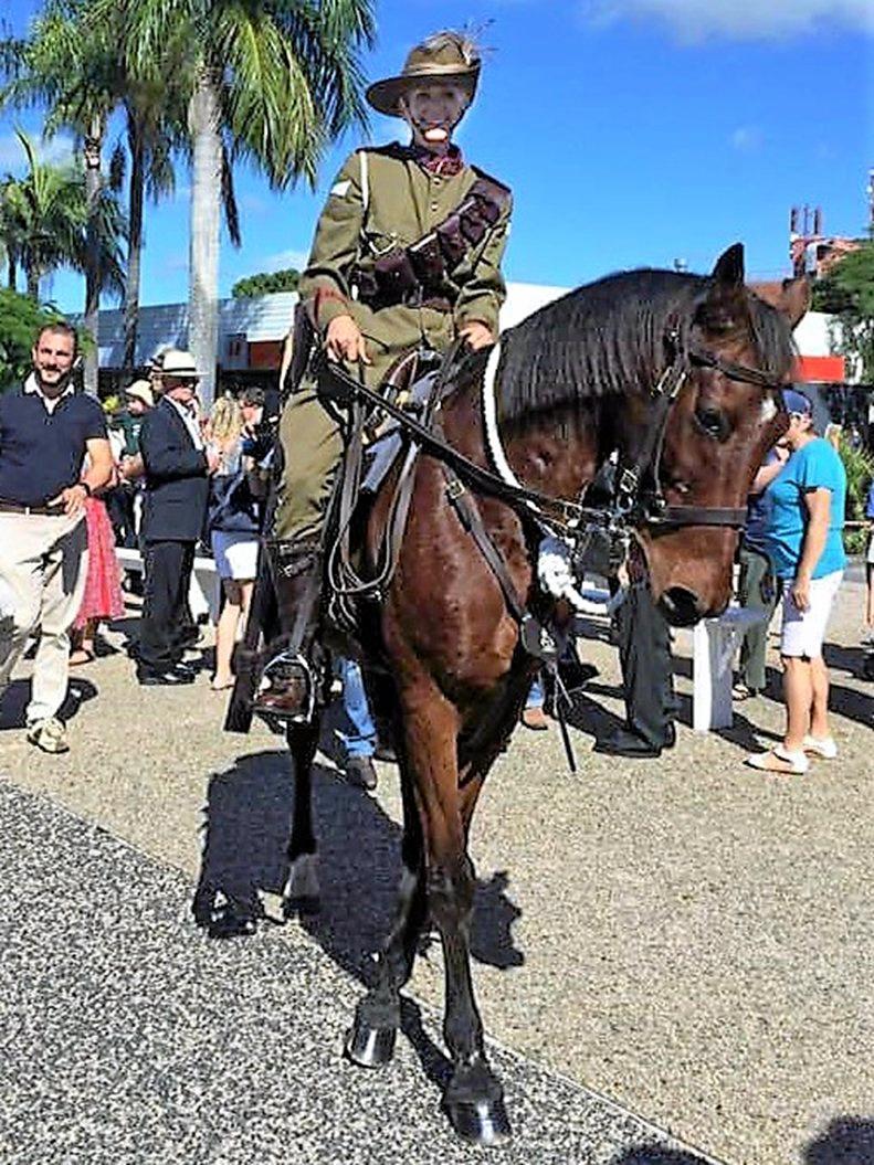 Australian Light Horse member Janet Kake at the 2018 Anzac Parade.
