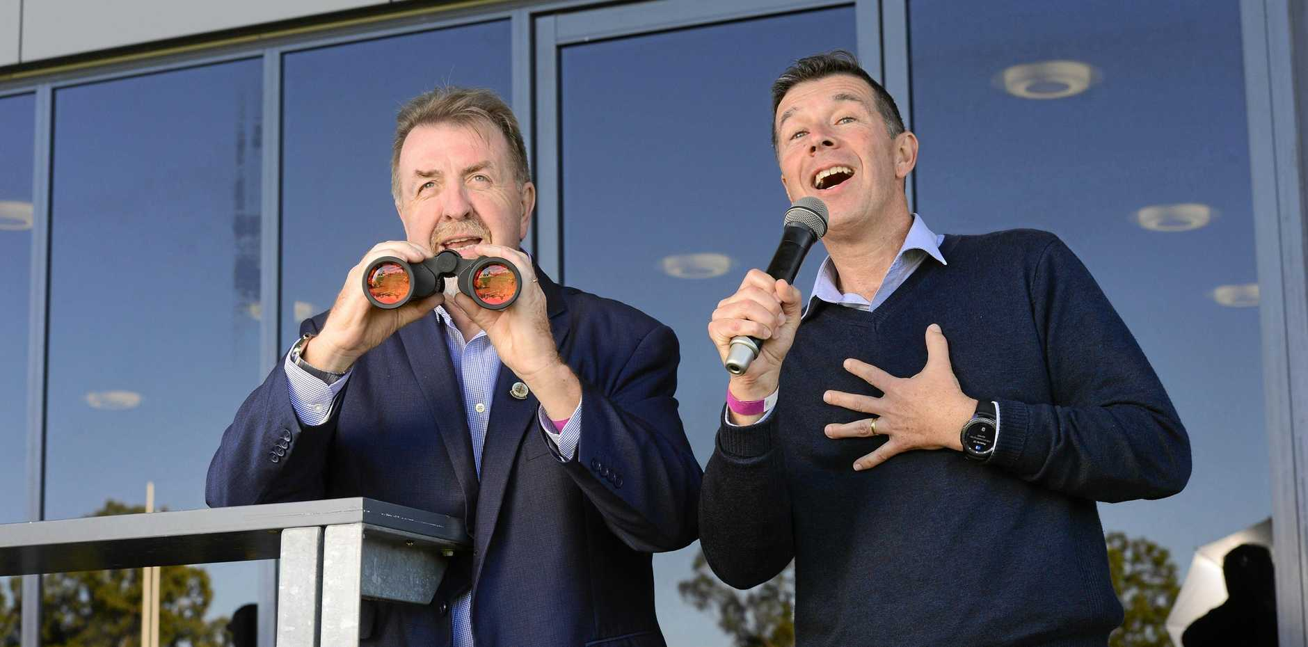 CANDIDATES: Paul Tully and Andrew Antoniolli during the height of the 2017 mayoral by-election.