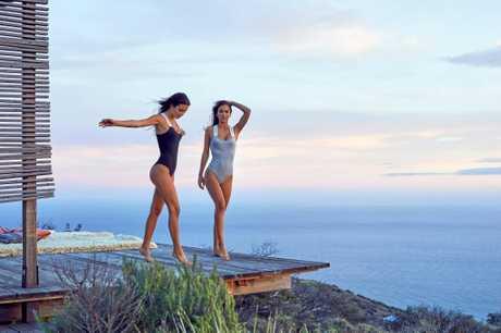 Caloundra identical models Elisha and Renee Herbert.