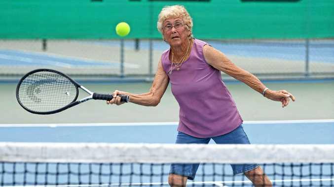 78-year-old Gympie tennis player still swinging