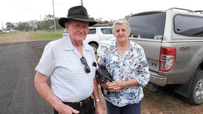 CONCERNED: While Umbiram residents Bob and Jean Buckley are worried about noise and vibration from the proposed Inland Rail line, they feel for the people whose properties will be dissected by the final route.