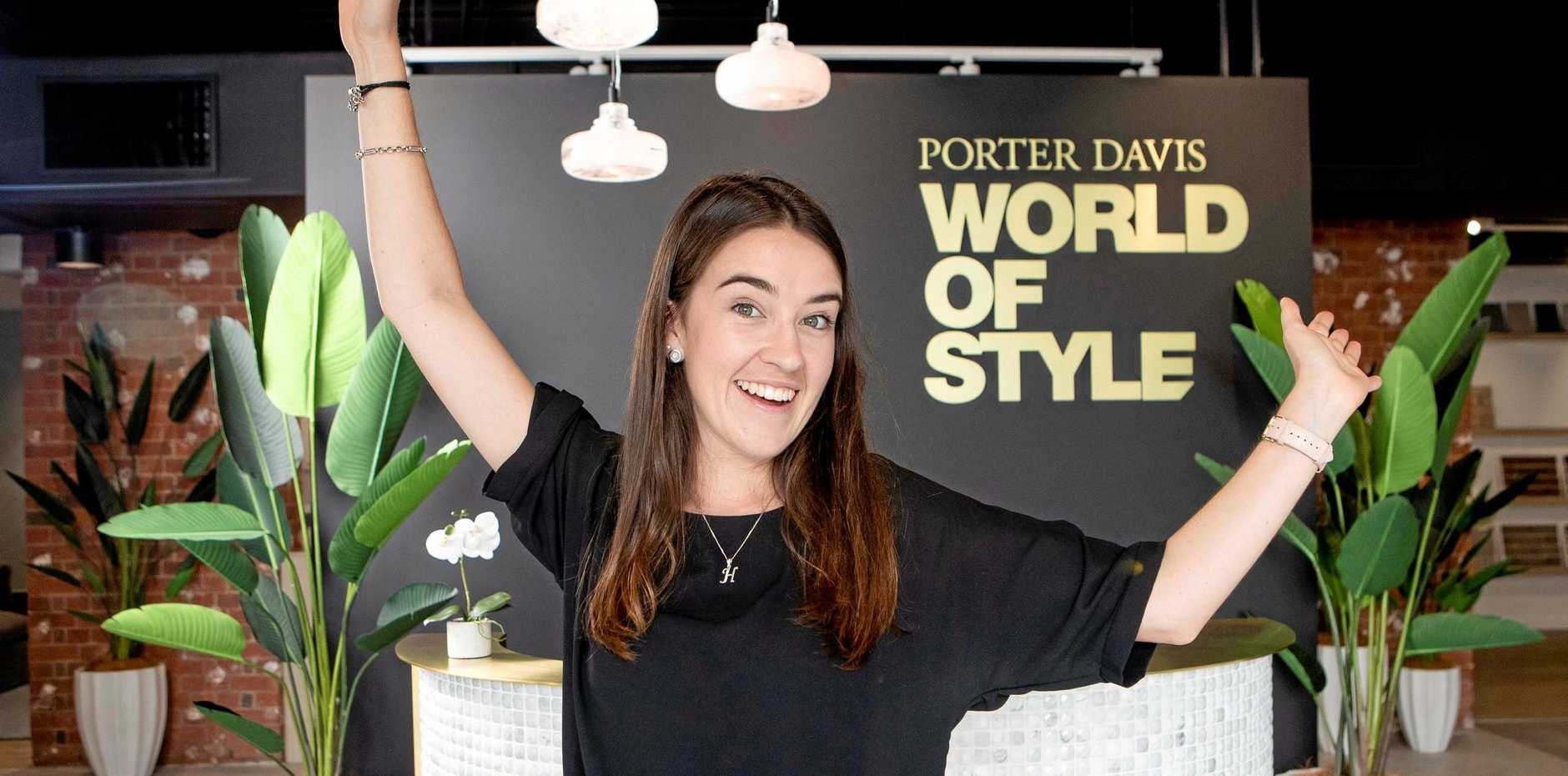 Marcus Beach woman Holly Wykamp, 23, has won $50,000 to go towards building her first home in a Porter Davis competition.