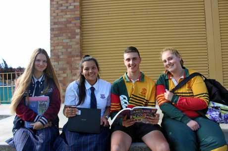 NO MORE TESTS: Year 12 students Jamiee Beecham, Veronica Johnstone,  Josh Musumeci  and Natasha Petroccitto.