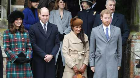 The young royals at last year's Christmas Day service at St Mary Magdalene Church.