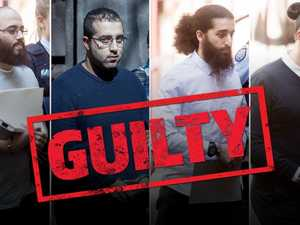 Terror plotters laugh as guilty verdict delivered