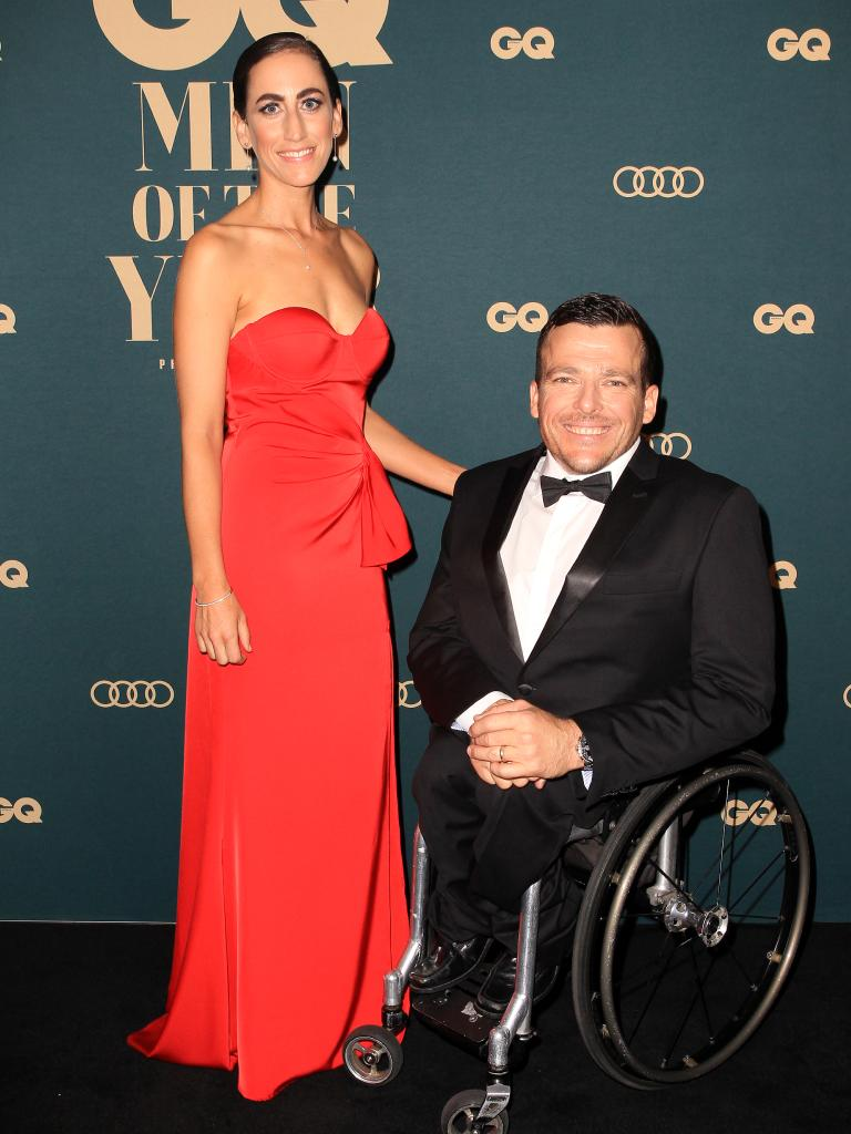 NSW Australian of the Year Kurt Fearnley and his wife Sheridan. Picture: Christian Gilles