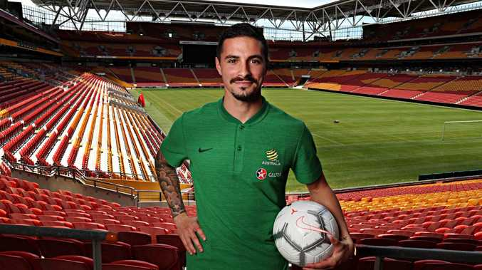 Jamie Maclaren wants to nail the 'special one' at Suncorp. Picture: Annette Dew