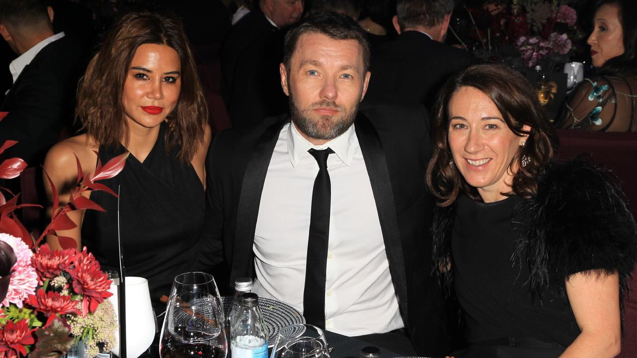 Christine Centenera, Joel Edgerton and Edwina McCann at the GQ Men of the Year Awards held at The Star in Pyrmont. Picture: Christian Gilles