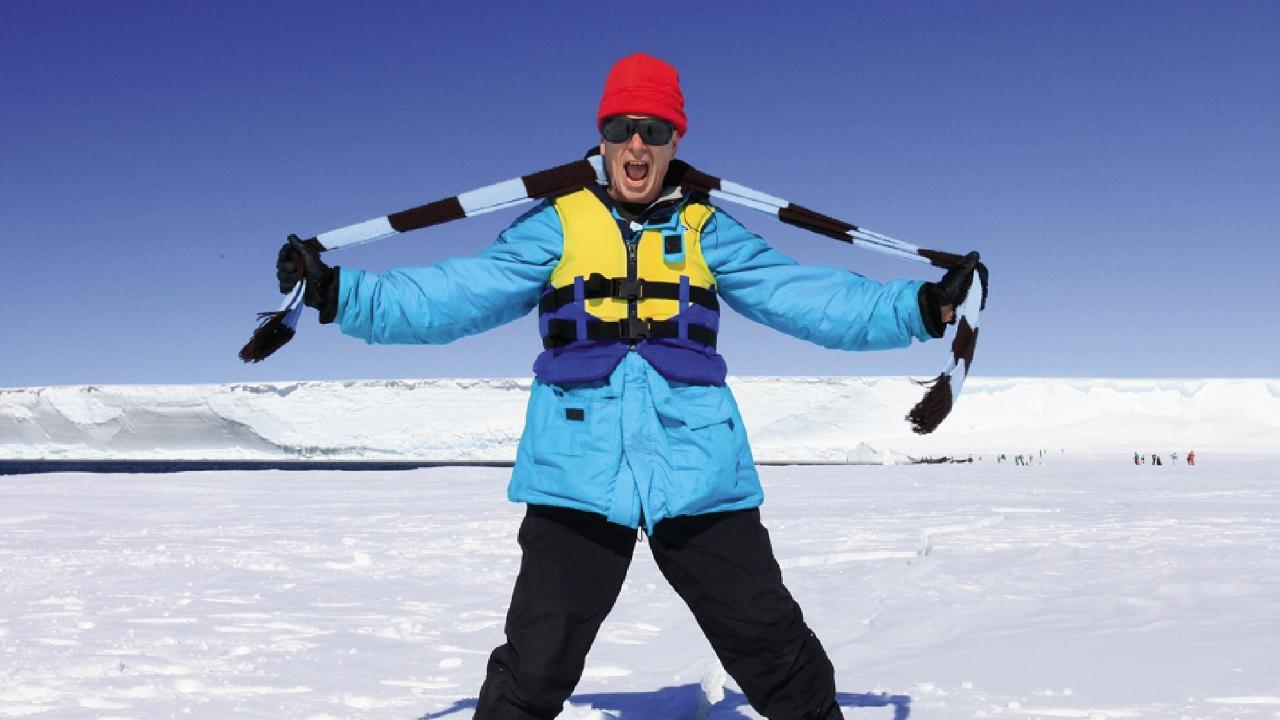 Dr Karl Kruszelnicki is preparing to head to Antarctica with World Expeditions.