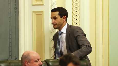 Member for Broadwater David Crisafulli at parliament in Brisbane. Picture: Liam Kidston.