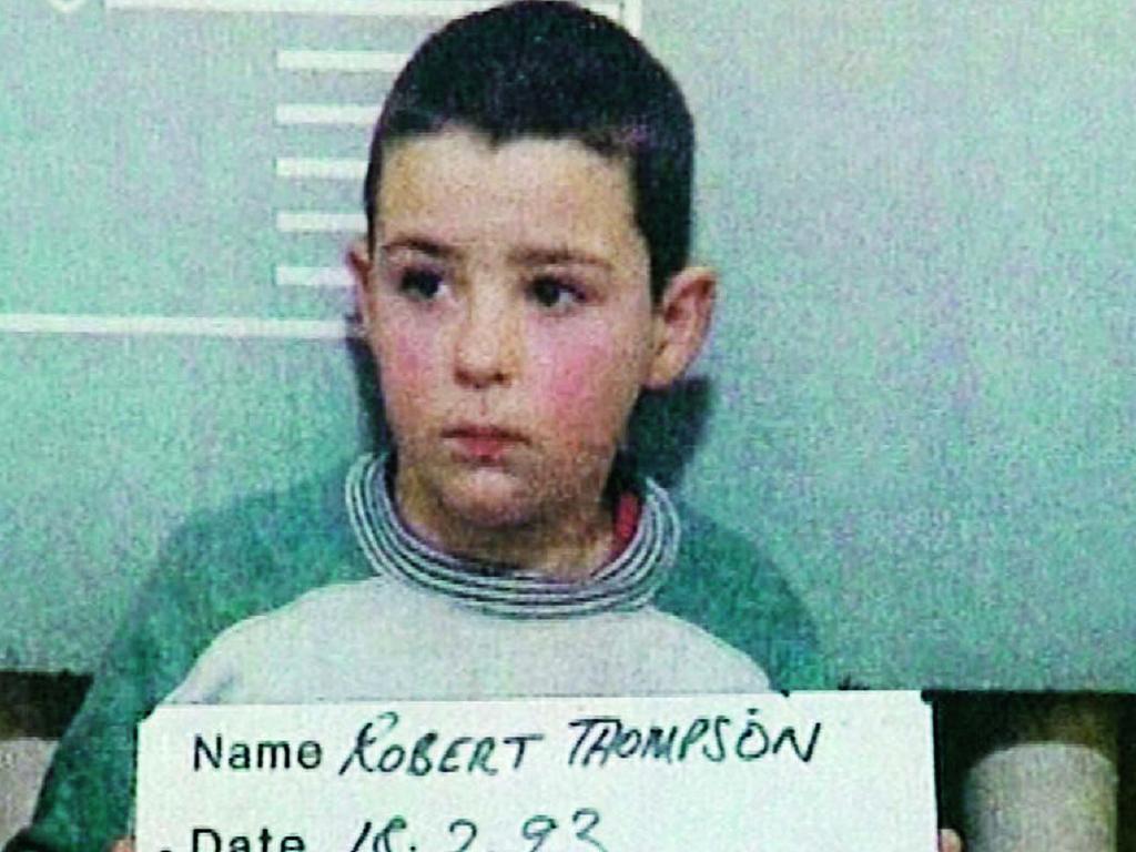 Robert Thompson after his arrest.