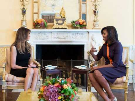 Melania Trump meets Michelle Obama at the White House, but since then she never called the former first lady for advice or support. Picture: Chuck Kennedy/White House