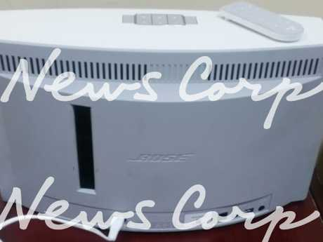 Police allege this speaker was stolen by Melbourne man Liam Connor Leppin, who is now in custody in a Bali police jail.