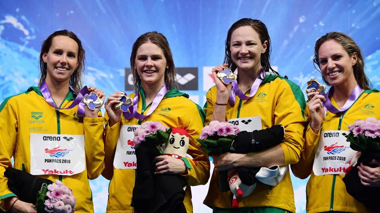 Emma McKeon, Cate Campbell and Emily Seebohm have been invited to the unsanctioned event. Picture: AFP