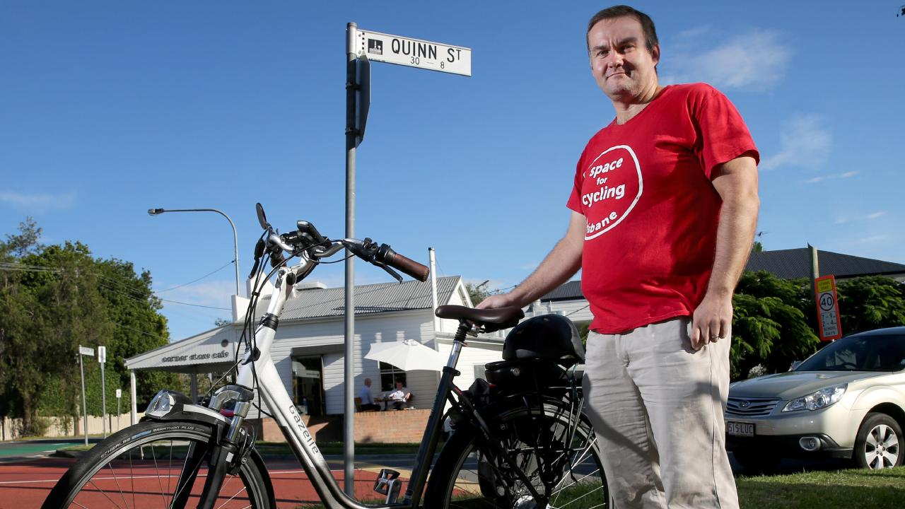 Chris Cox has become one of the people he used to despise — a cyclist. It's taught him a lot about road safety. Picture: Chris Higgins