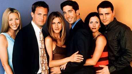 Friends: Lisa Kudrow, Matthew Perry, Jennifer Aniston, David Schwimmer, Courteney Cox and Matt LeBlanc.