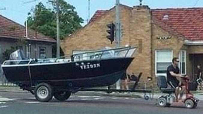 Man who towed boat with mobility scooter to face court