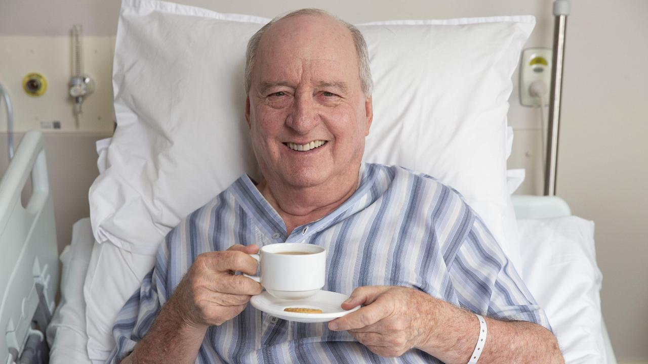 Broadcaster Alan Jones recovers at St Vincents Hospital. Picture: Justin Lloyd