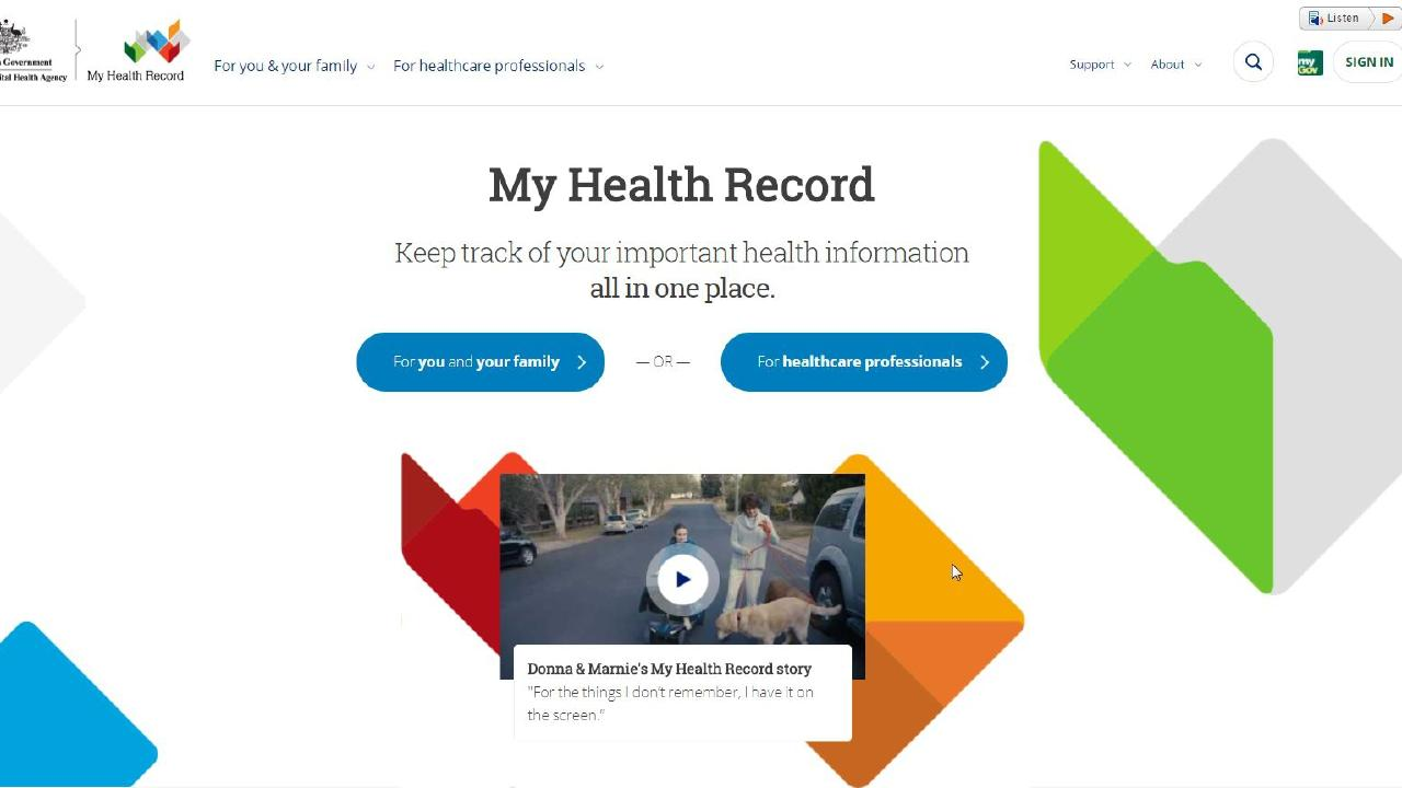 Aussies have been given until January 31, 2019, to opt-out of the My Health Record system. Picture: Supplied