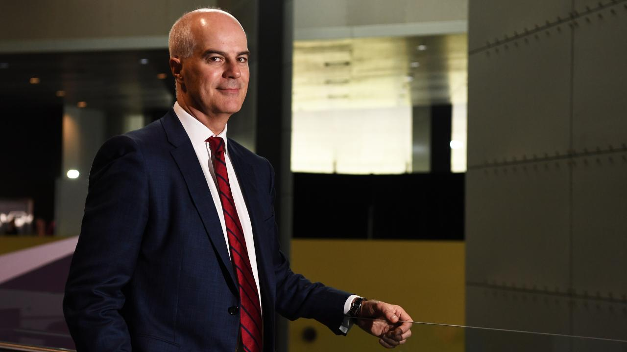 Medibank chief executive Craig Drummond at the health insurer's annual meeting in Melbourne on Wednesday. Picture: AAP