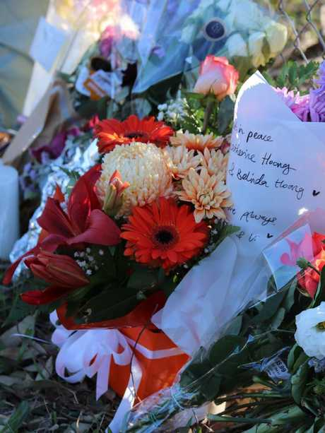 A memorial after the Orchard Hills crash. Picture: Danielle Jarvis