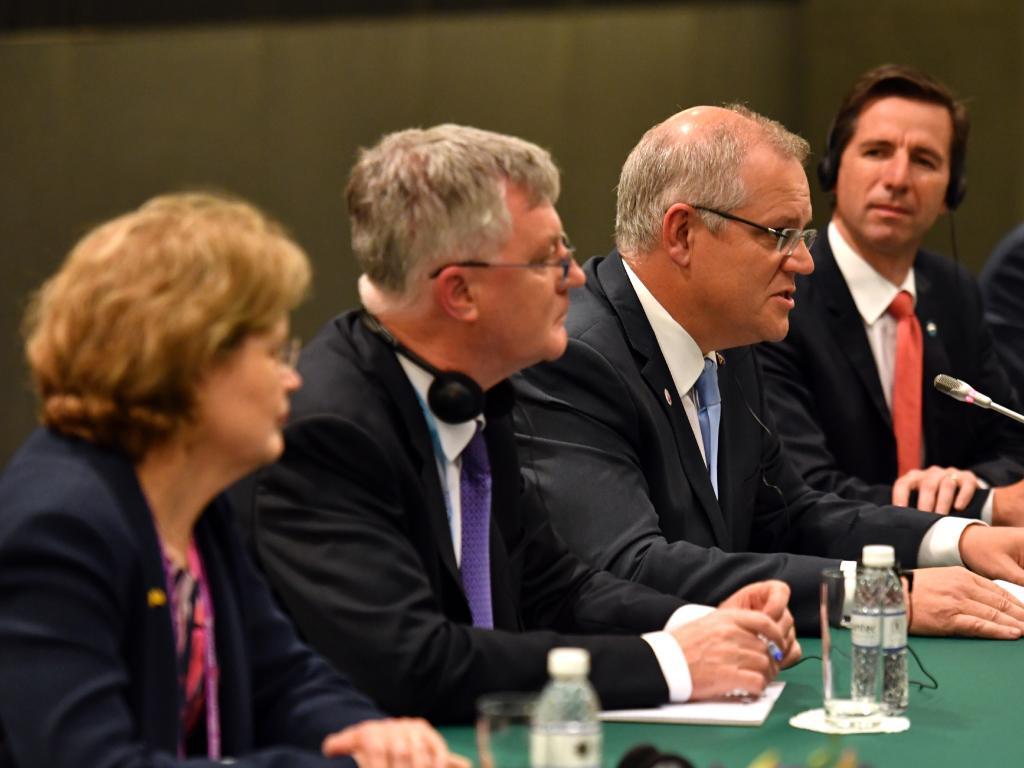 """Premier Li told Mr Morrison that Australia was an """"important strategic"""" partner. Picture: AAP"""