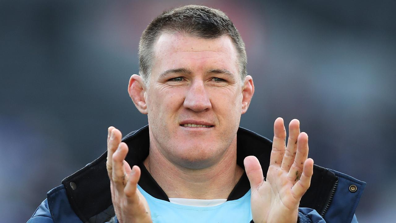 Cronulla's Paul Gallen has a handy horse on his hands. Picture: Brett Costello