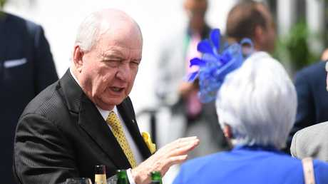 Jones was struck down by back spasms while attending the Melbourne Cup Carnival.