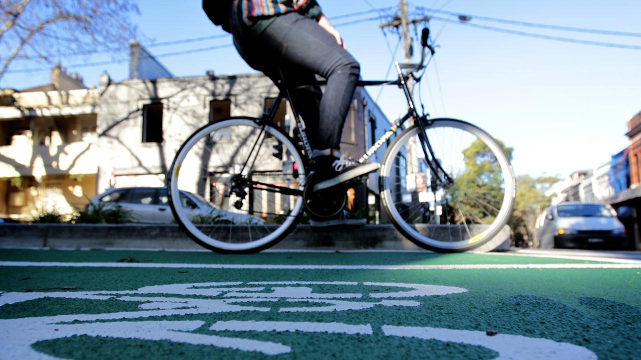 Inadequate bicycle infrastructure means it's difficult for bike riders to avoid roads.
