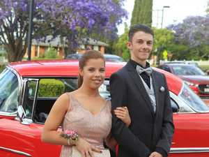 Kiraleigh Beutel and Leon Stacey arrive for the 2018