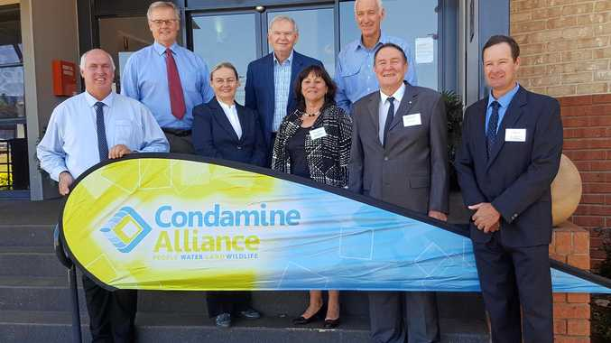 Condamine Alliance Board and Company Members. From L to R: George Moore, Dr Jim Cavaye, Amanda Hannay, Ed Power, MaryLou Gittins, Graham Cooke, Barry O'Shea OAM and Ashley Volz