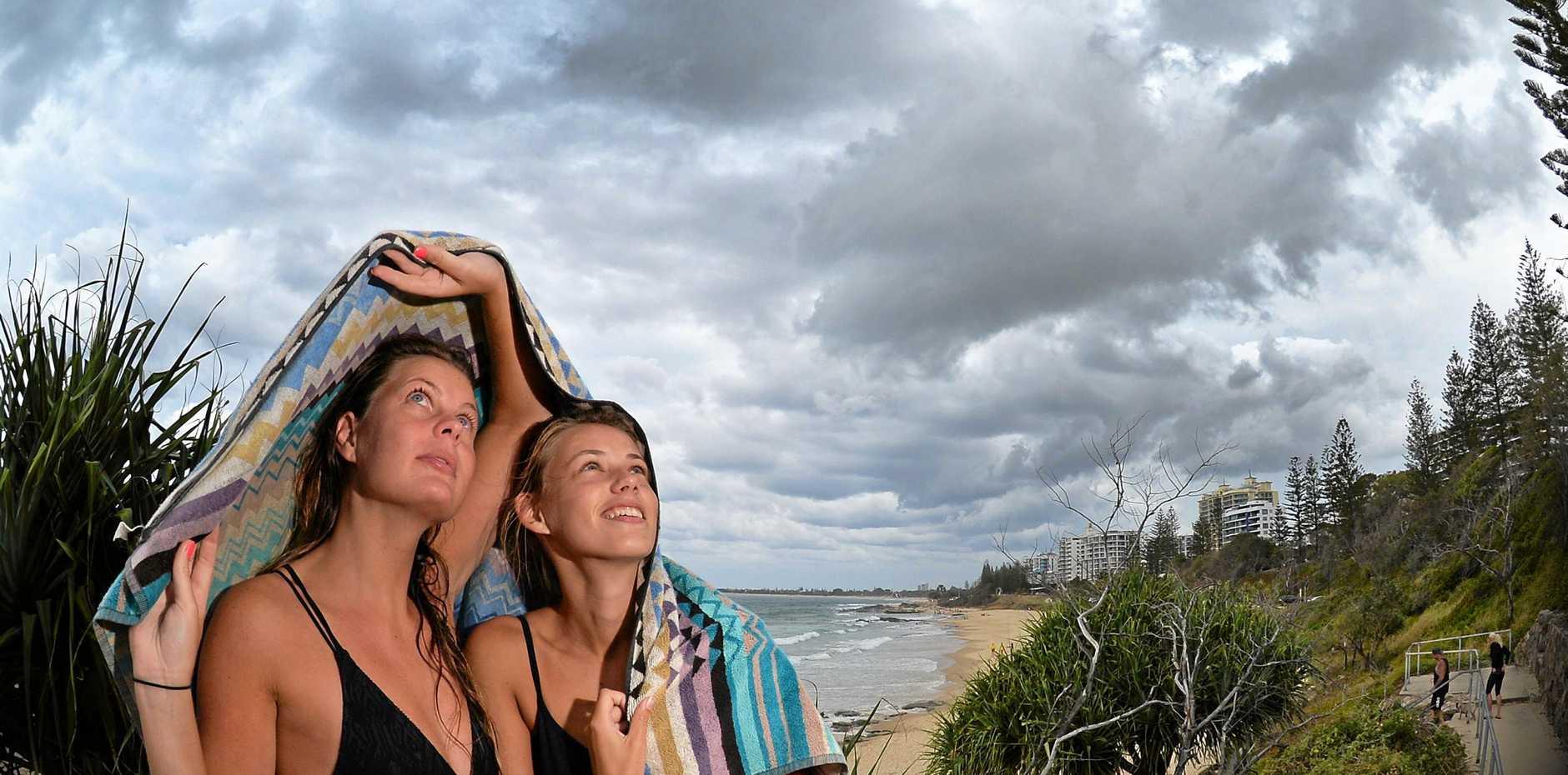 Heavy rain is expected on the Sunshine Coast.
