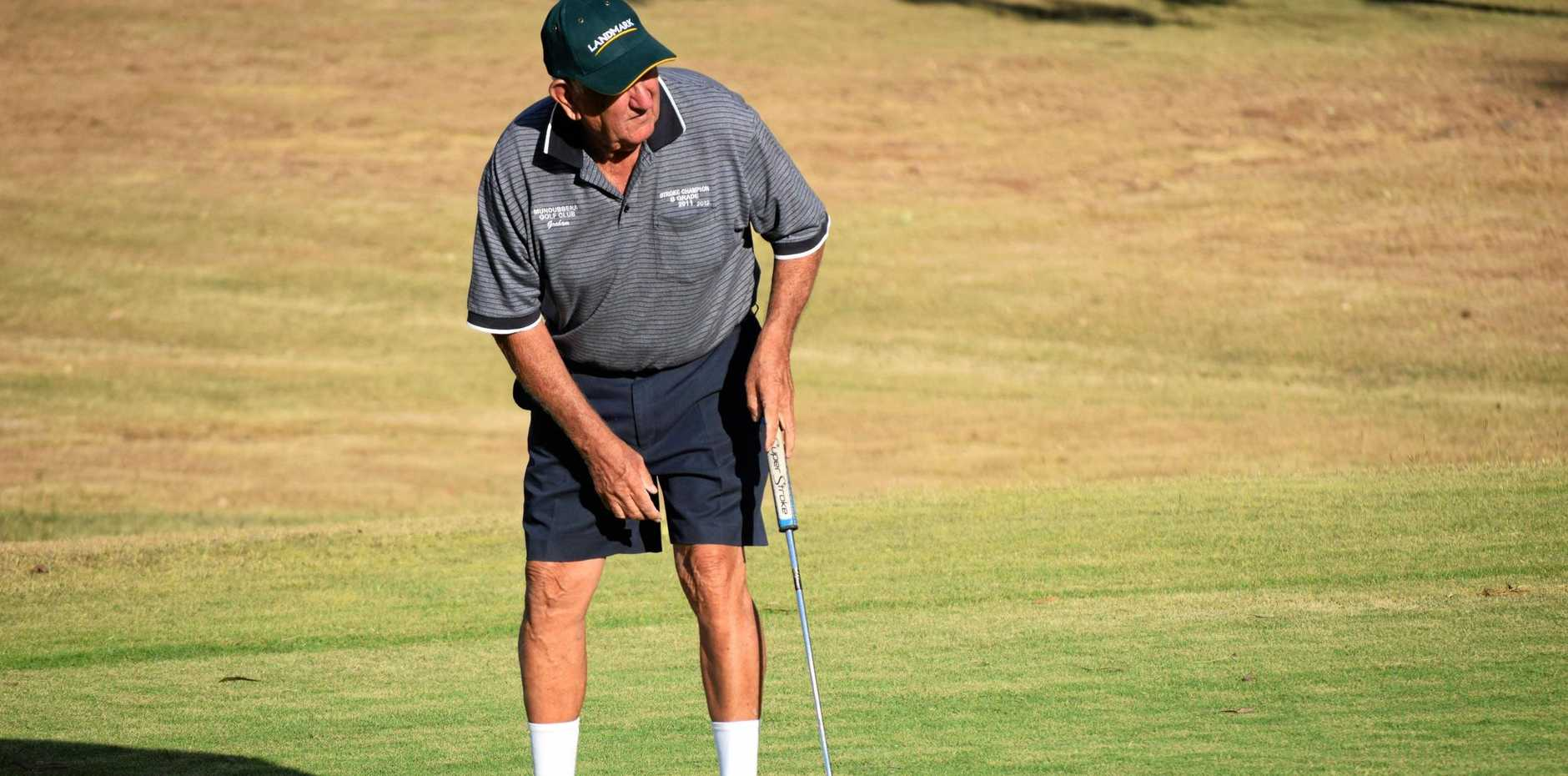 IN ACTION: Graham Carlyon on   the Mundubbera course.