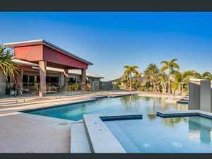 Massive custom built pool and spa in tropical resort home