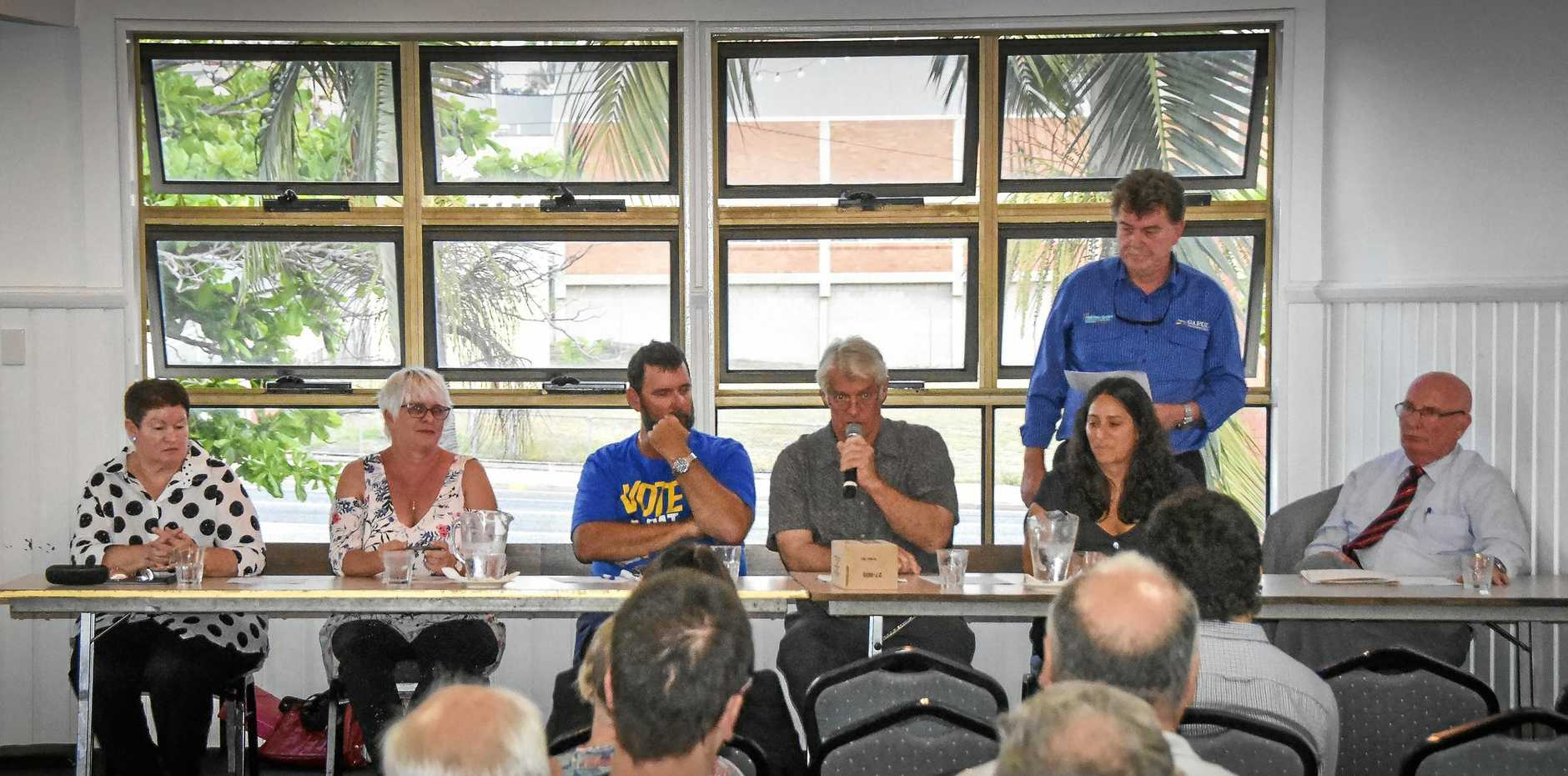 SPOTLIGHT: GAPDL held a meet-the-candidates event on Wednesday afternoon ahead of Saturday's Gladstone Regional Council by-election.