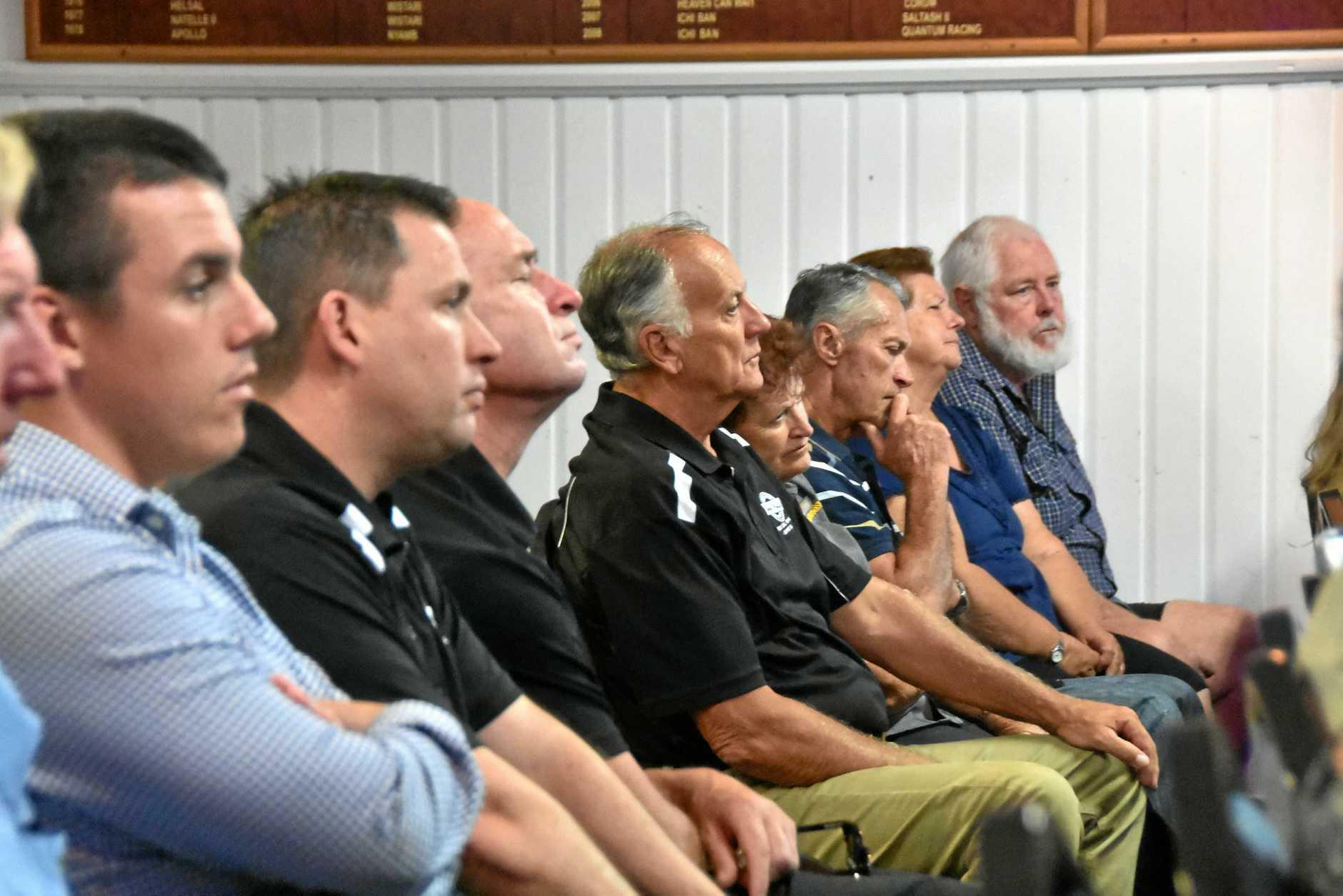 LISTENING: Labor candidate for Flynn Zac Beers, Gladstone Region mayor Matt Burnett, deputy mayor Chris Trevor and councillor Glenn Churchill were in attendance at the Gladstone Yacht Club.