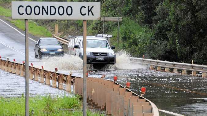 Water over the bridge at Coondoo Creek