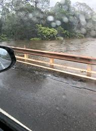 Coondoo Bridge about to flood