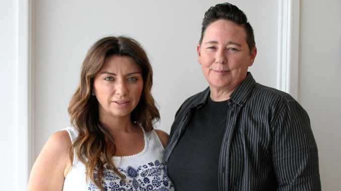 GREEN BUSINESS: Higher Power Solar owners Donna Michel and Alison Carpentier.